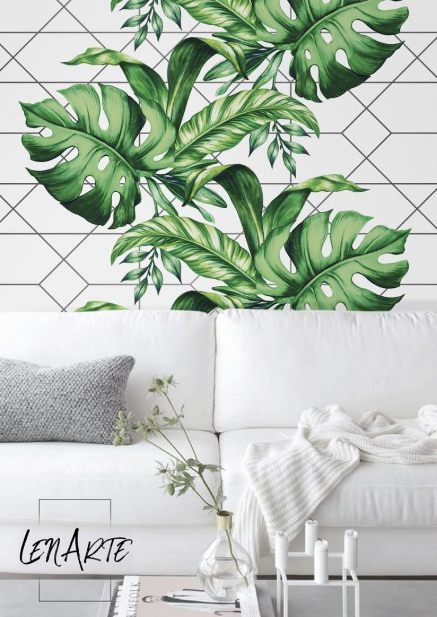 A sanctuary with a reusable wall mural LenarteWallpaperscom